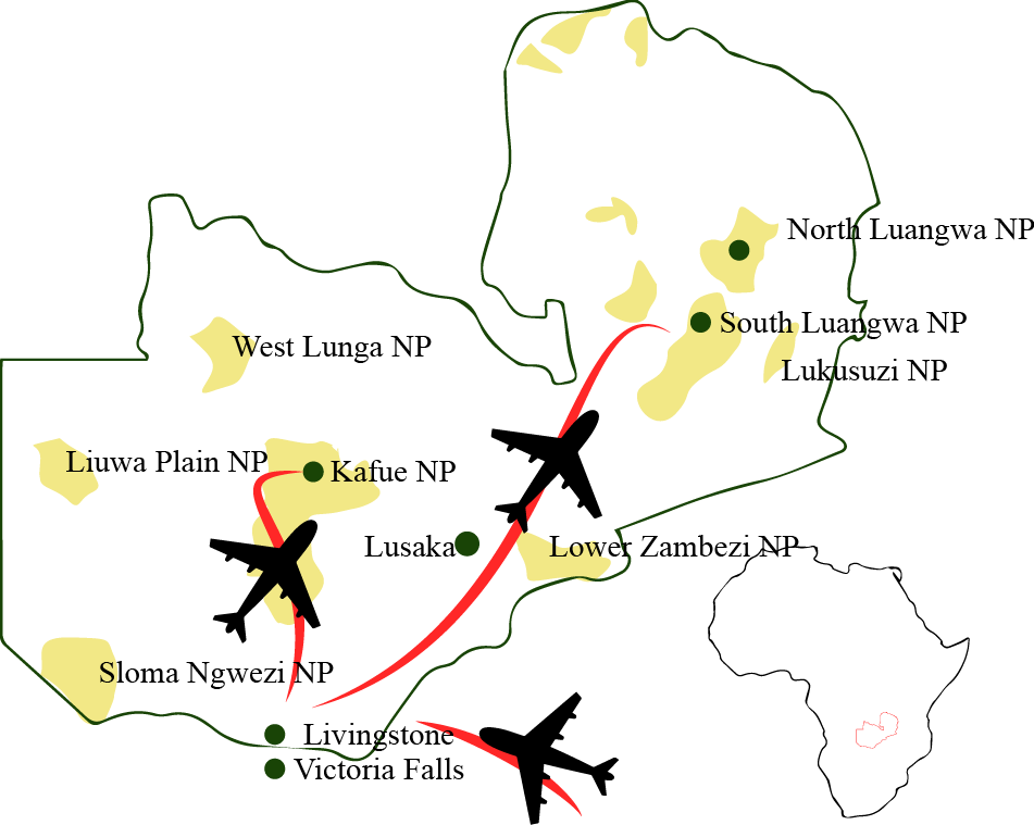 CM Travels | Zambia Map